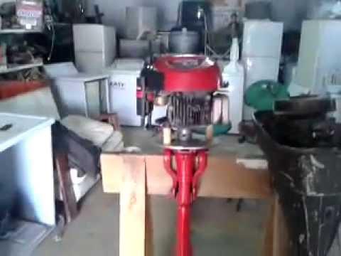 motor de lancha casero