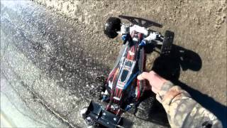 Testing new shoes on my traxxas bandit and cooked the motor