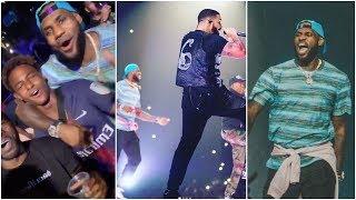 Download Lagu LeBron gets lit as he joins Drake & Travis Scott on stage at Staples Center Gratis STAFABAND