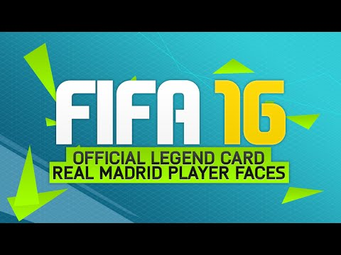 FIFA 16 NEWS! OFFICIAL LEGEND CARD DESIGN & REAL MADRID PLAYER FACES!