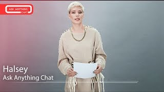 Download Lagu Halsey Tells Us How To Pronounce Her Last Name & Singing w/ Katy Perry. Part 1 Gratis STAFABAND