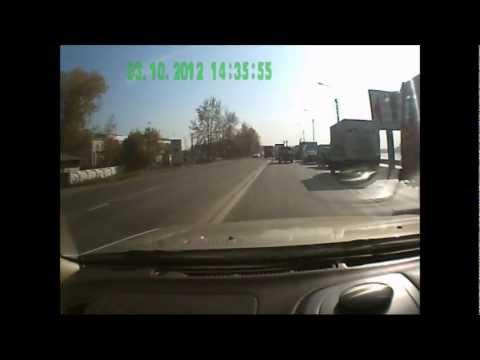 Цепная авария Иркутск