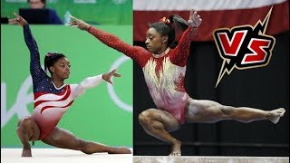 Simone Biles, Olympics 2016 VS 2018 GK U.S. Classic | then vs now
