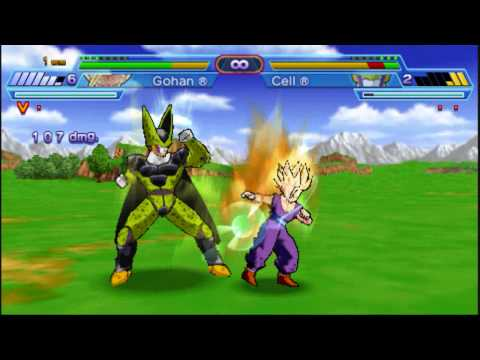 Dragonball Z Shin Budokai Another Road Teen Gohan Vs. Cell video