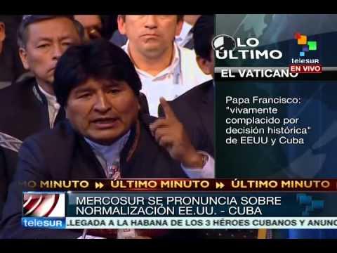 Maduro y Evo reaccionan en Cumbre Mercosur tras restablecimiento relaciones EEUU Cuba