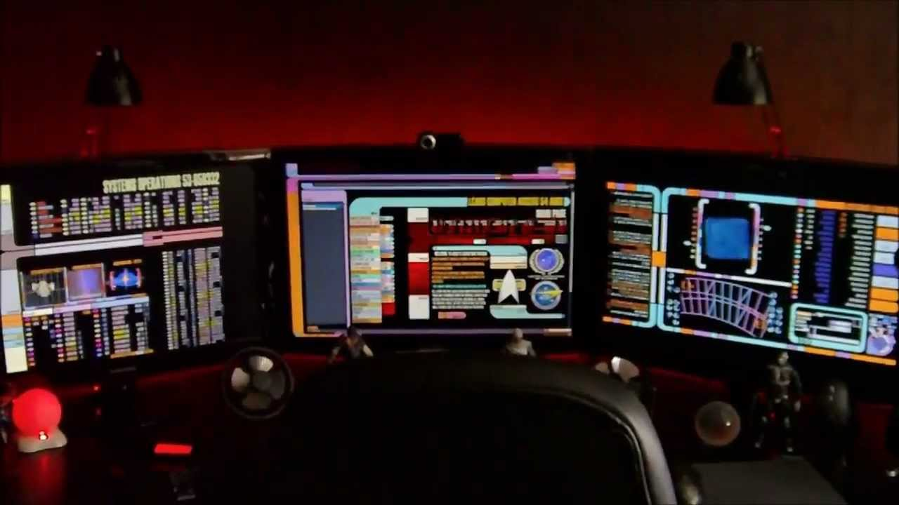 Windows Seven Star Trek Lcars Desktop Youtube
