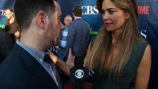 Fall Previews  - CBS Press Tour Red Carpet:  Amelia Heinle