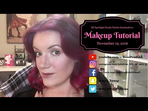 Makeup Tutorial - Elf Spotlight Ready Palette Eyeshadows Review