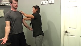 Chiropractic Adjustment: Hip Pain Relief from Hip Alignment  (Female Chiropractor, Male Patient)