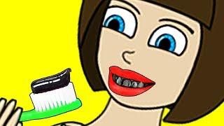 ELSA's Mega People Black Teeth Finger Family Song Nursery Rhymes