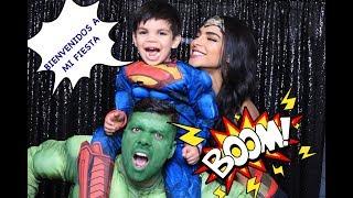 Matteo superhero party:)