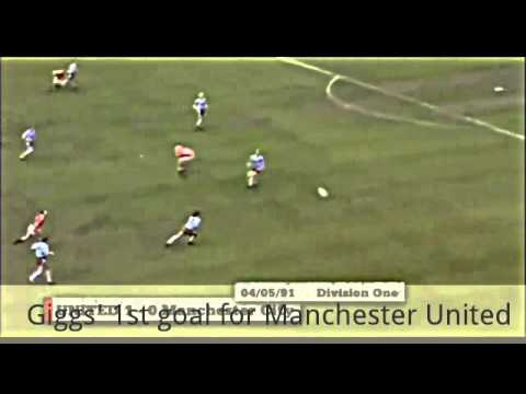 Ryan Giggs 1st goal for Manchester United vs Manchester City 04/05/1991