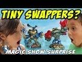 Tiny Swappers? Skylanders Magic Show Surprise! Swap Force Fun
