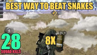 How to beat Snakes | SUBS SQUAD | 28 SQUAD KILLS | PUBG Mobile