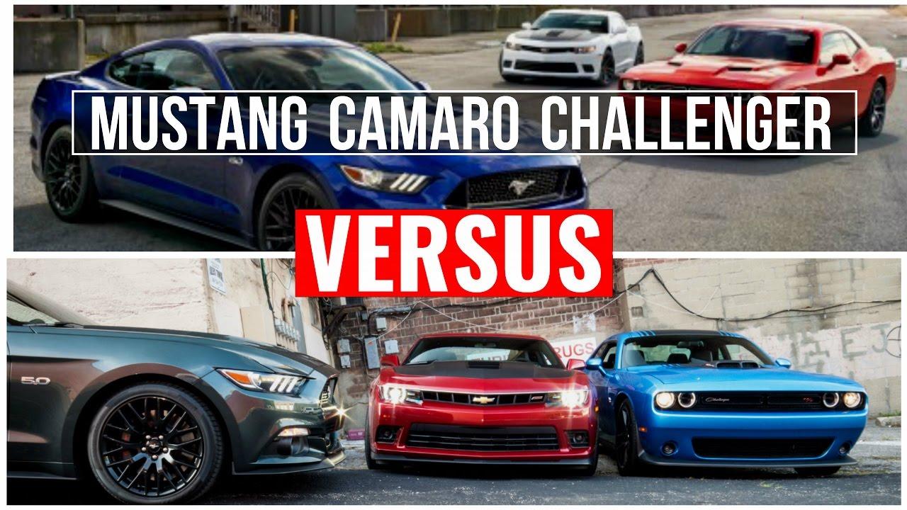 2015 Camaro Vs Challenger Vs Mustang Visual