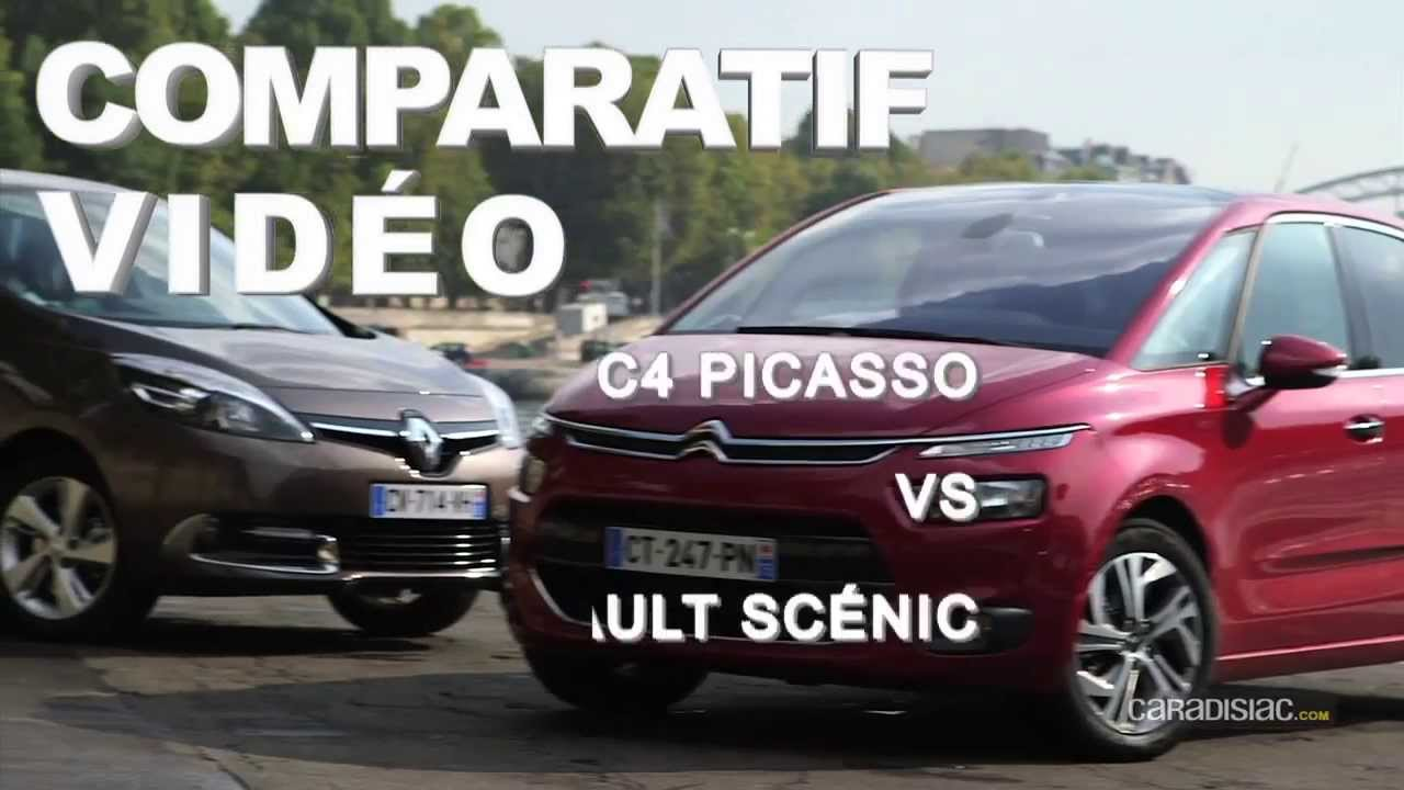 comparatif citro n c4 picasso renault sc nic youtube. Black Bedroom Furniture Sets. Home Design Ideas