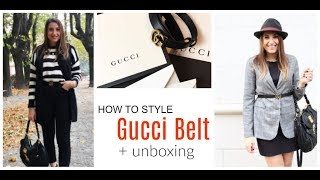 GUCCI MARMONT BELT 'UNBOXING' and 3 OUTFIT IDEAS