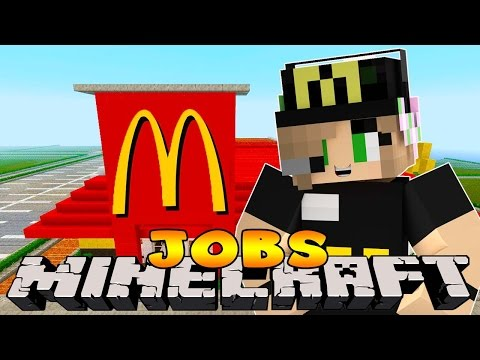 Minecraft Jobs : Little Kelly - FIRST DAY WORKING IN MCDONALDS!