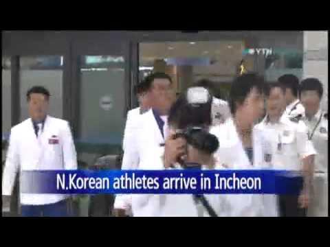 N.Korean athletes to Incheon Asian Games enter S.Korea / YTN