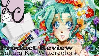 Art Supply/Product Review, Sakura Koi Water Colors Pocket Field Sketch Box -24 Set (+Speed Paint)