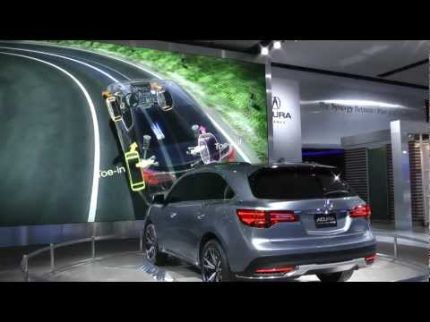 Cars with advanced safety features showcased at North American International Auto Show in Detroit