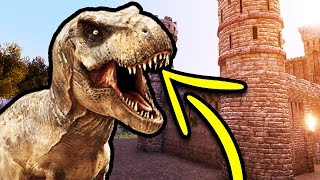 T Rex Vs Zamek  Ultimate Epic Battle Simulator Pl