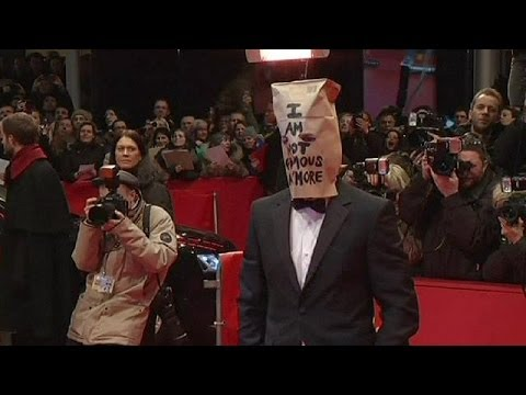 Paper bag-headed Shia LaBeouf behaves bizarrely at the Berlin Film Festival