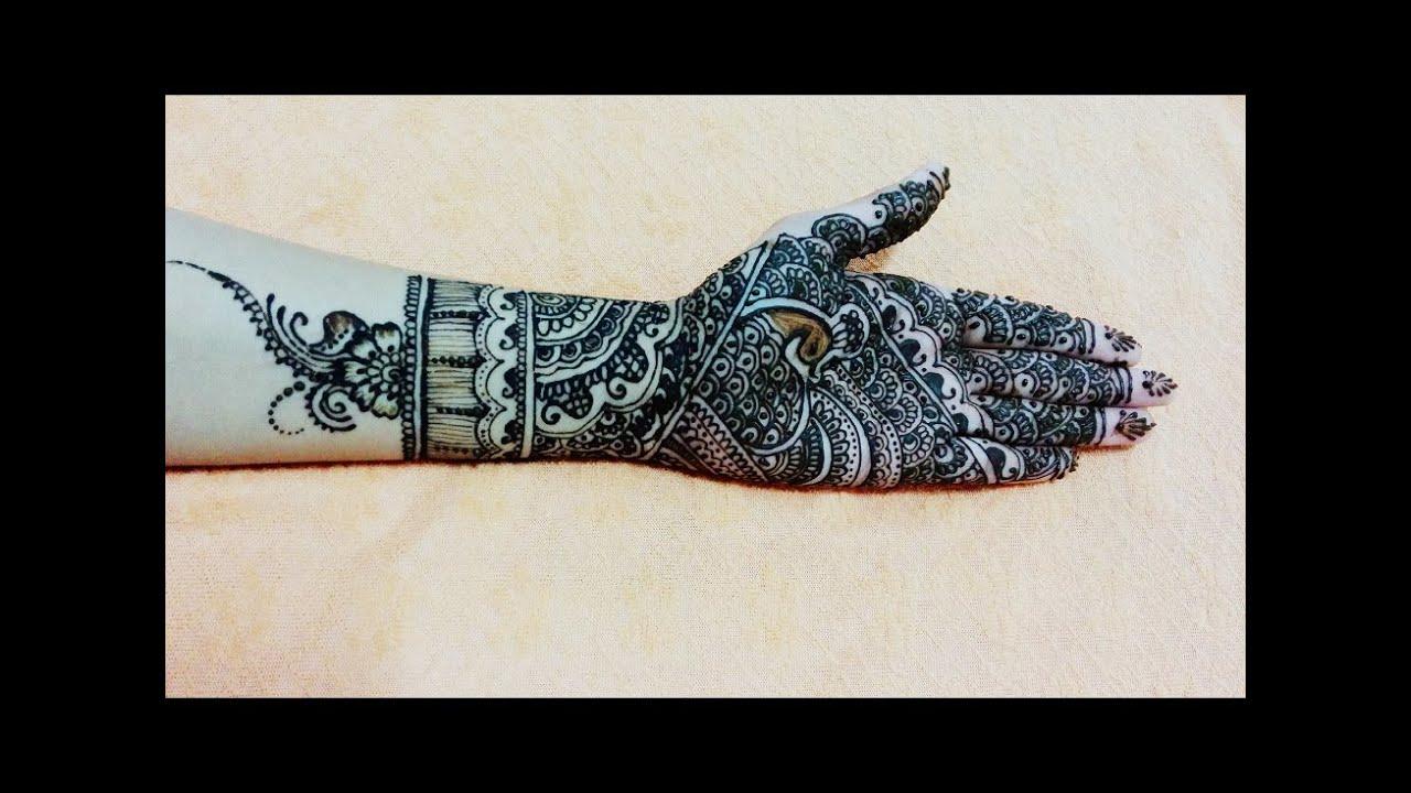 Best Full Hand Bridal Mehendi Design In Steps  Henna