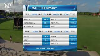 LIVE CRICKET - USA vs Papua New Guinea ICC World Cricket League League 2