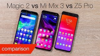 Honor Magic 2 vs Xiaomi Mi Mix 3 vs Lenovo Z5 Pro