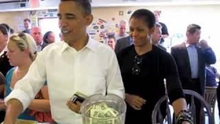 President & Michelle Obama visit the Asheville RAD & 12 Bones •  April 23, 2010