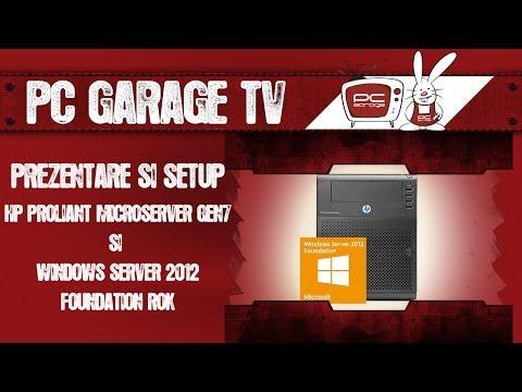 PC Garage TV - Prezentare si setup - HP Microserver Gen 7 si Windows Server 2012 Foundation