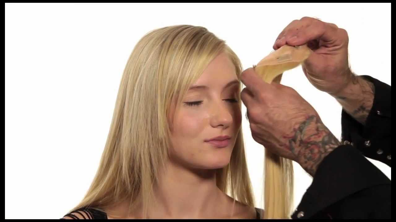 how to use thinning shears on bangs