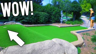 Back To Back Mini Golf Hole In One and Skill Putts!