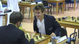 DOUBLE ROOK VS QUEEN!!! MAGNUS CARLSEN VS LEVON ARONIAN | RAPID CHESS 2014