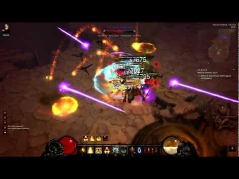 Diablo 3 Inferno Monk vs x2-x3 packs (Act 2) 1.0.3