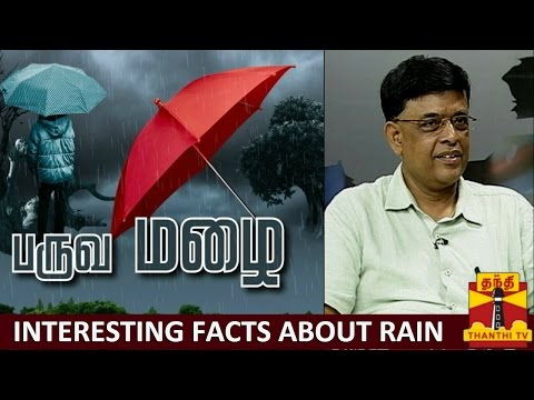 Paruva Mazhai : Interesting Facts about Rain - SR Ramanan, Regional Meteorological Director