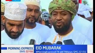 Coastal political leaders,led by Joho speak during Eid celebrations in Mombasa