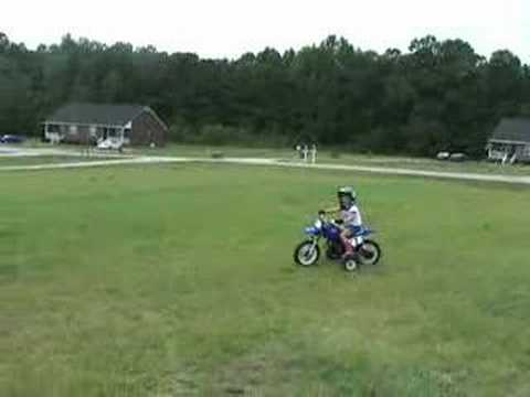 Yamaha pw50 Mia Riding Aug 2007 Video