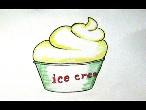 Ice Cream Drawings How to Draw Cup Ice-cream