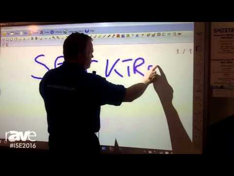 ISE 2016: Specktron Shows the Interactive White Board and Laser Projector (IRB2-92QC and WDL-3500i)
