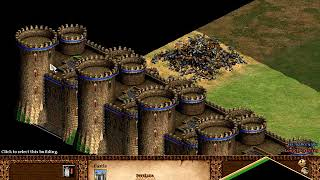 AGE OF EMPIRES 2 AoE2 - HOW MANY CASTLES YOU CAN PLACE IN TINY MAP