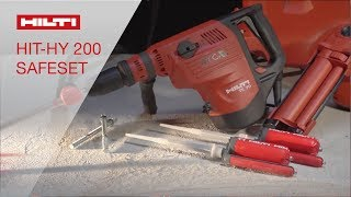 Hilti HIT-HY 200 System with Safe Set™ Technology