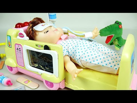 Ambulance baby doll Doctor toys play