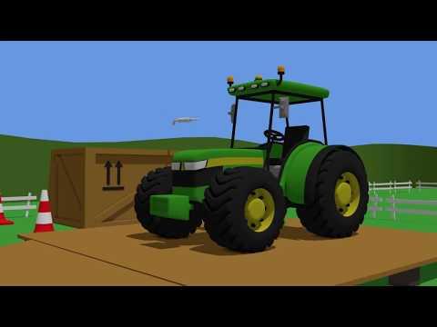 Tractor Fairy Tale for Kids - Formation and uses   Animacje Traktor   Traktory Konstrukcje