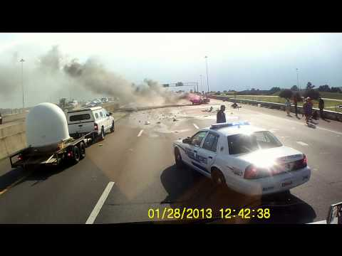 Trucker saves mother, infant after car crashes into semi