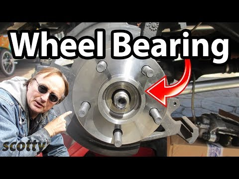 How to replace a rear  wheel bearing in your car.