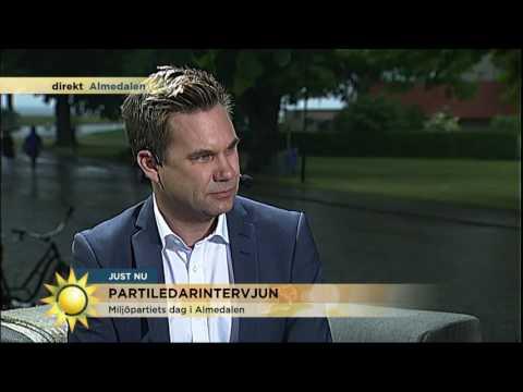 """Gustav Fridolin: """"Det enda parti som sätter miljön först"""" - Nyhetsmorgon (TV4)"""