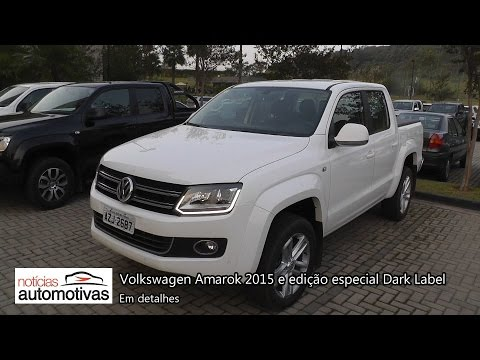 Volkswagen Amarok 2015 e Dark Label - Detalhes - NoticiasAutomotivas.com.br