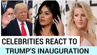 Celebrities React to Trump's Inauguration   Hollywire